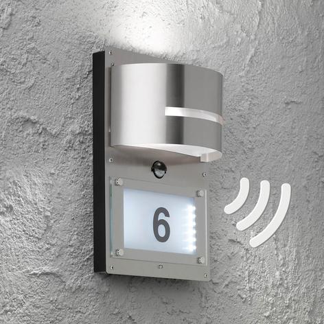 Husnummerlampa Marvel med rörelsesensor