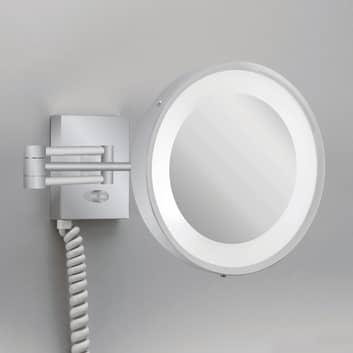 Väggsminkspegel VISIO belysning, satinerat nickel