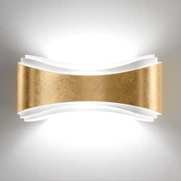 Lampa ścienna LED Ionica ze stali, płatkowe złoto