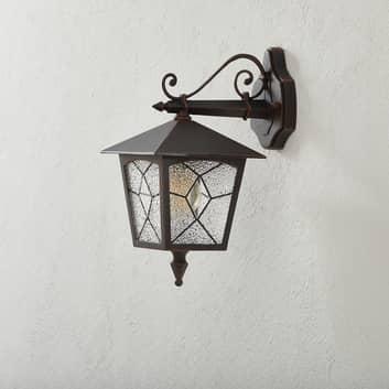 Skierowana w dół zewnętrzna lampa ścienna ROBUSTE