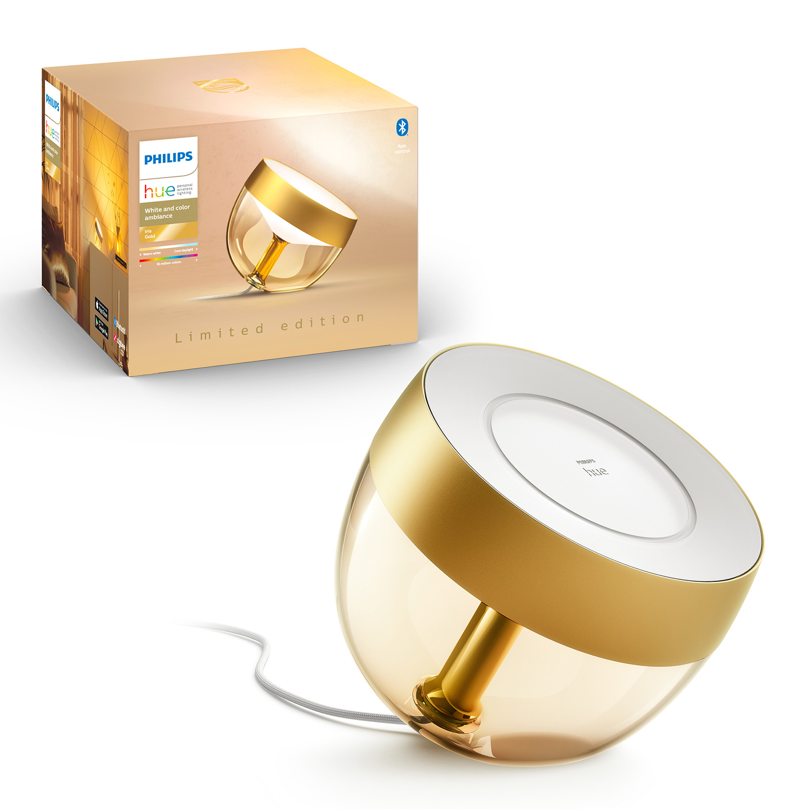 Philips Hue Iris Limited Edition, WACA, gold