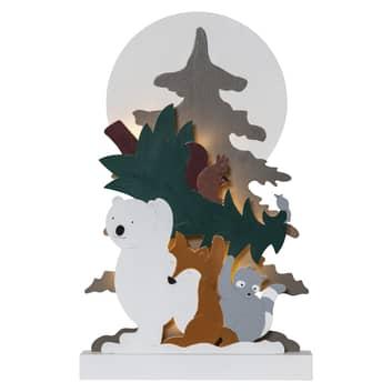 Decorativa LED Forest Friends oso polar mapache
