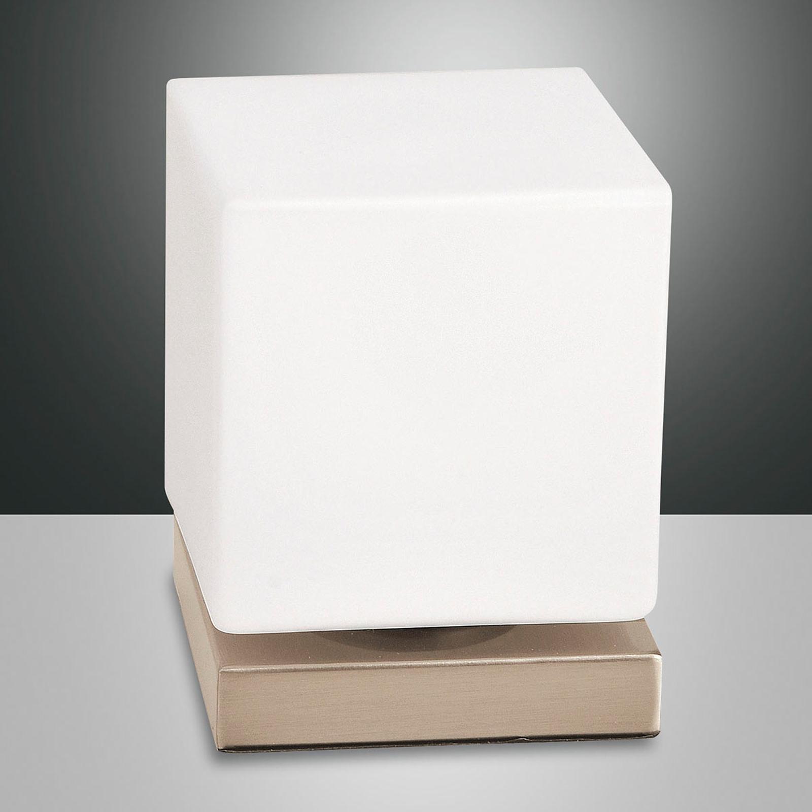Ściemniacz dotyk., lampa stołowa LED Brenta, złota