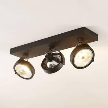 Arcchio Dagur-takspot, 3 lyskilder svart