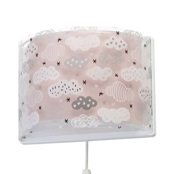 Kinder-wandlamp Clouds in roze