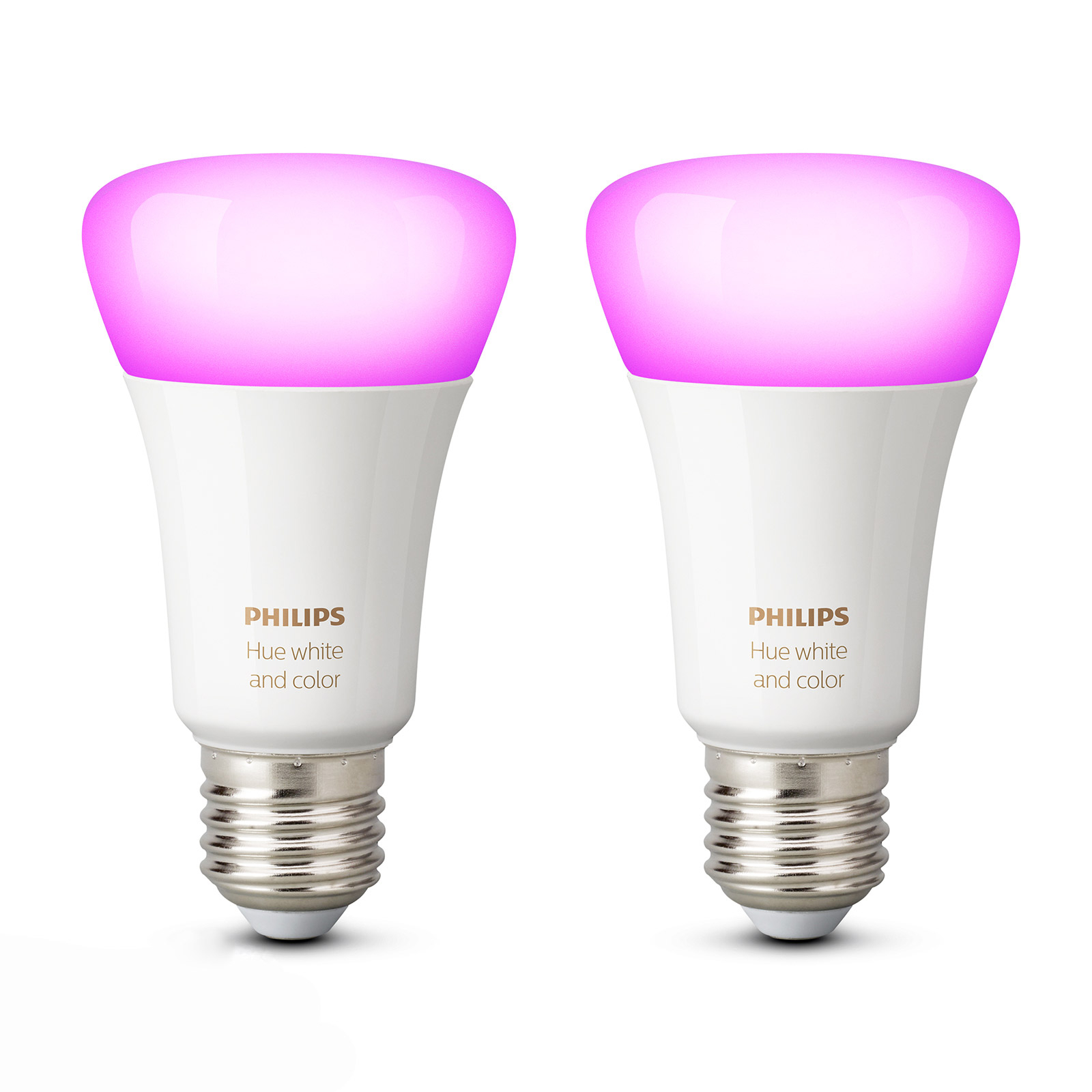 Philips Hue White & Color Ambiance 9W E27, 2er-Set
