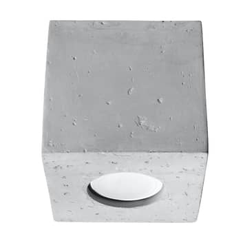 Stropní světlo Ara jako betonové krychle