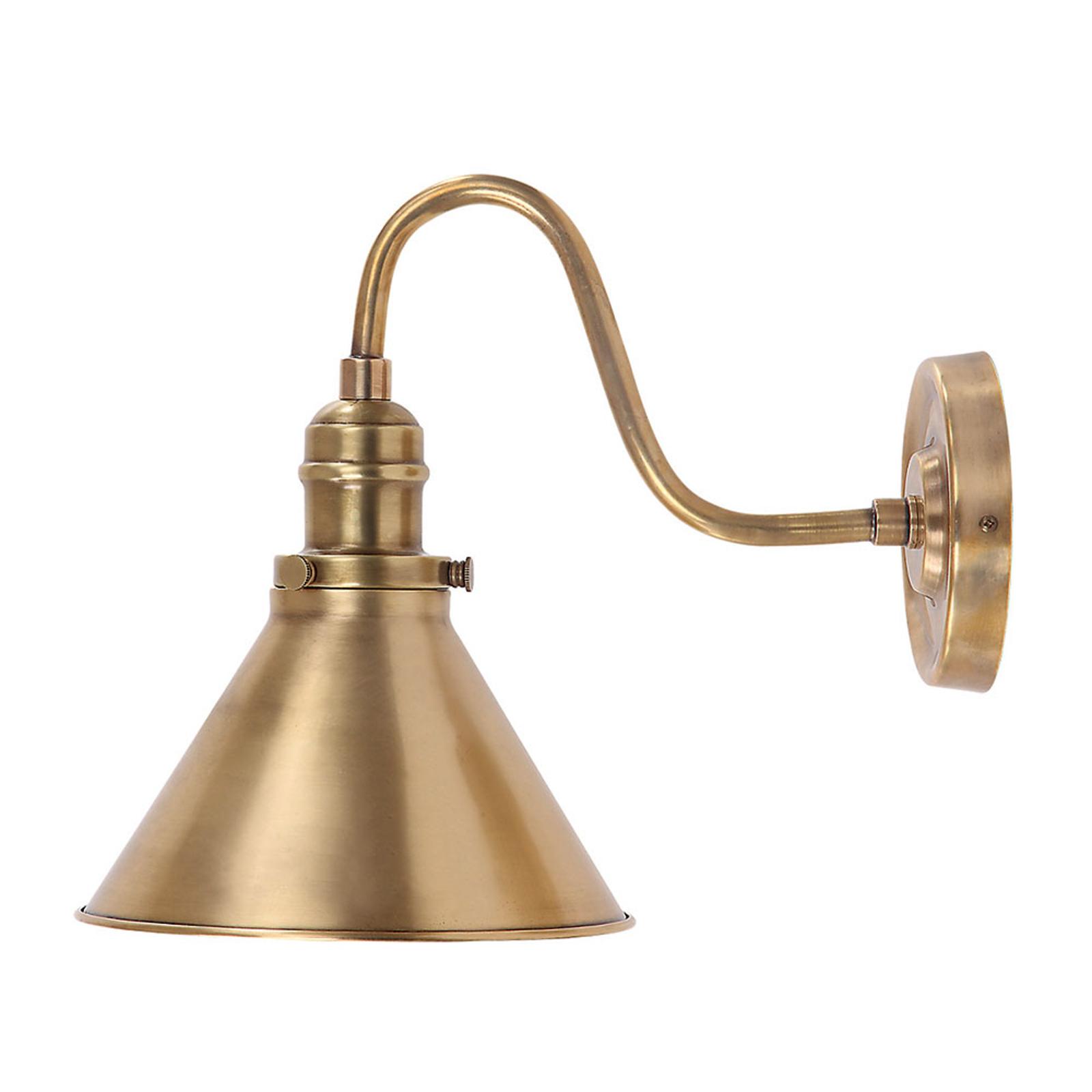 Vegglampe Provence, antikk messing