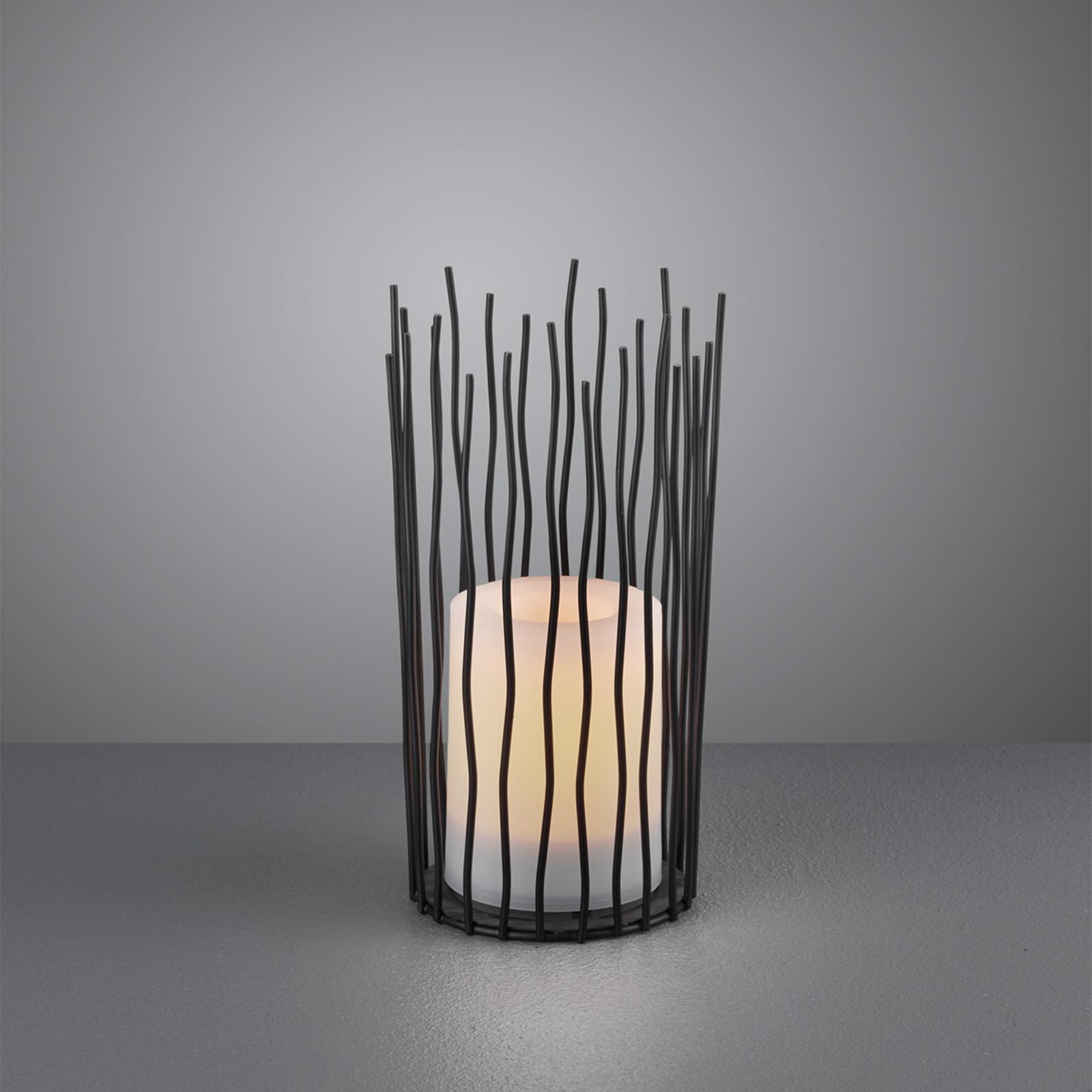 LED-Solar-Tischleuchte Coro, mit Flammeneffekt