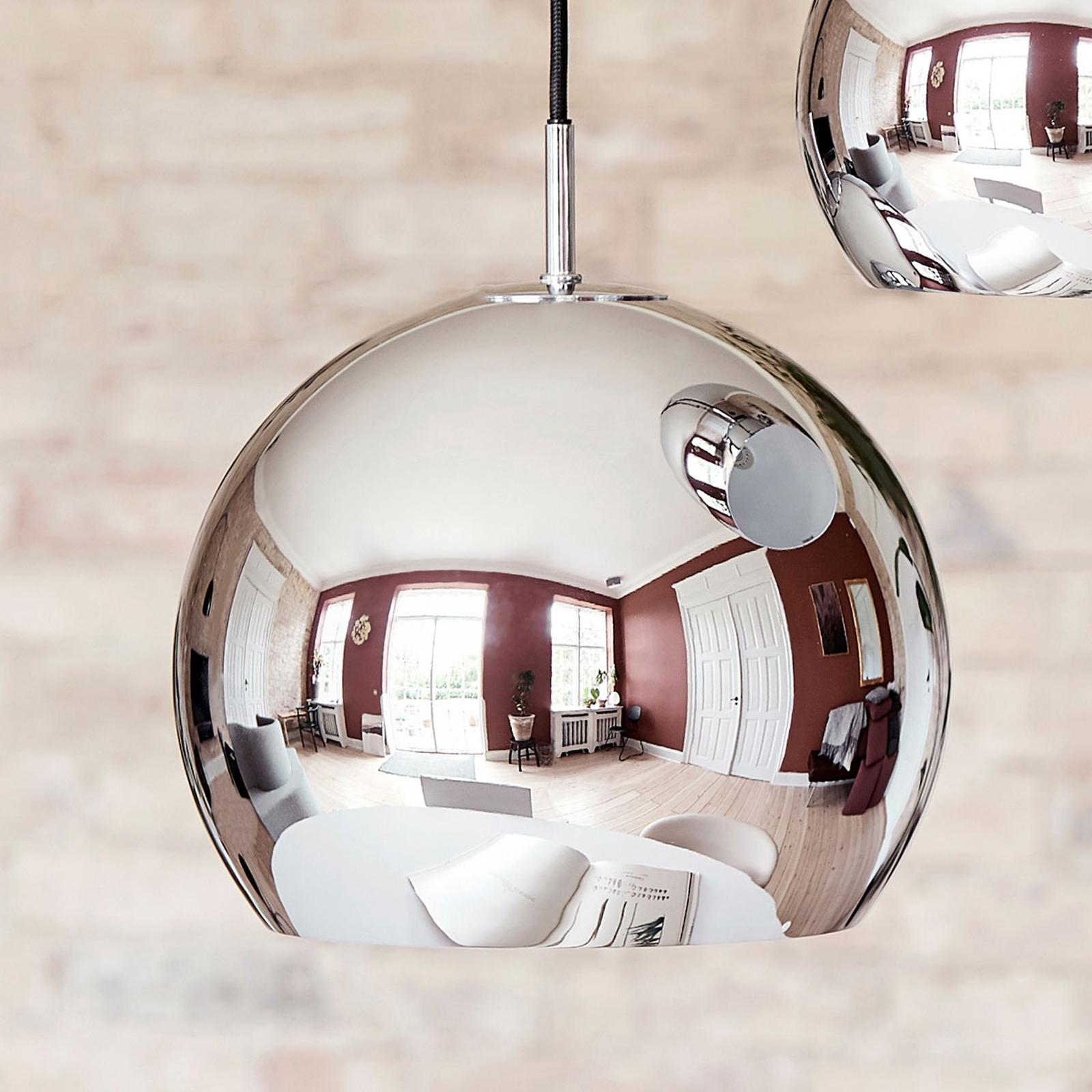 FRANDSEN Ball Hängelampe, Ø 25 cm, chrom glänzend
