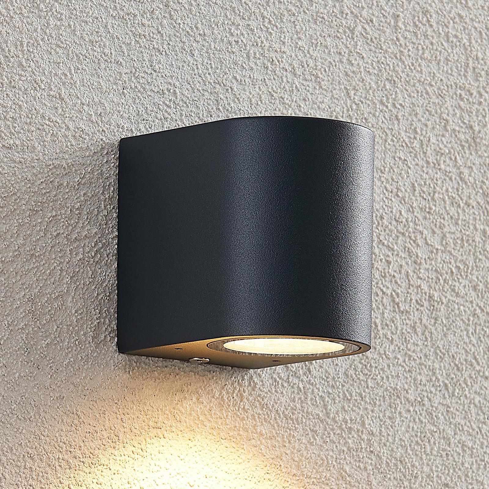 ELC Fijona utendørs LED-vegglampe rund, 8,1 cm
