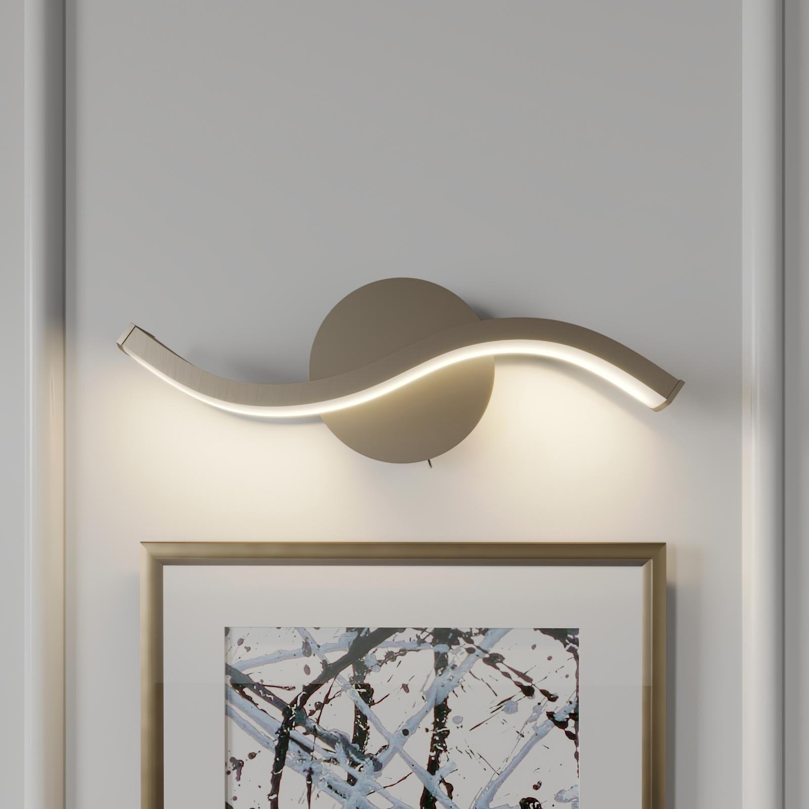 Lucande Mairia LED wandlamp, golfvorm, dimbaar