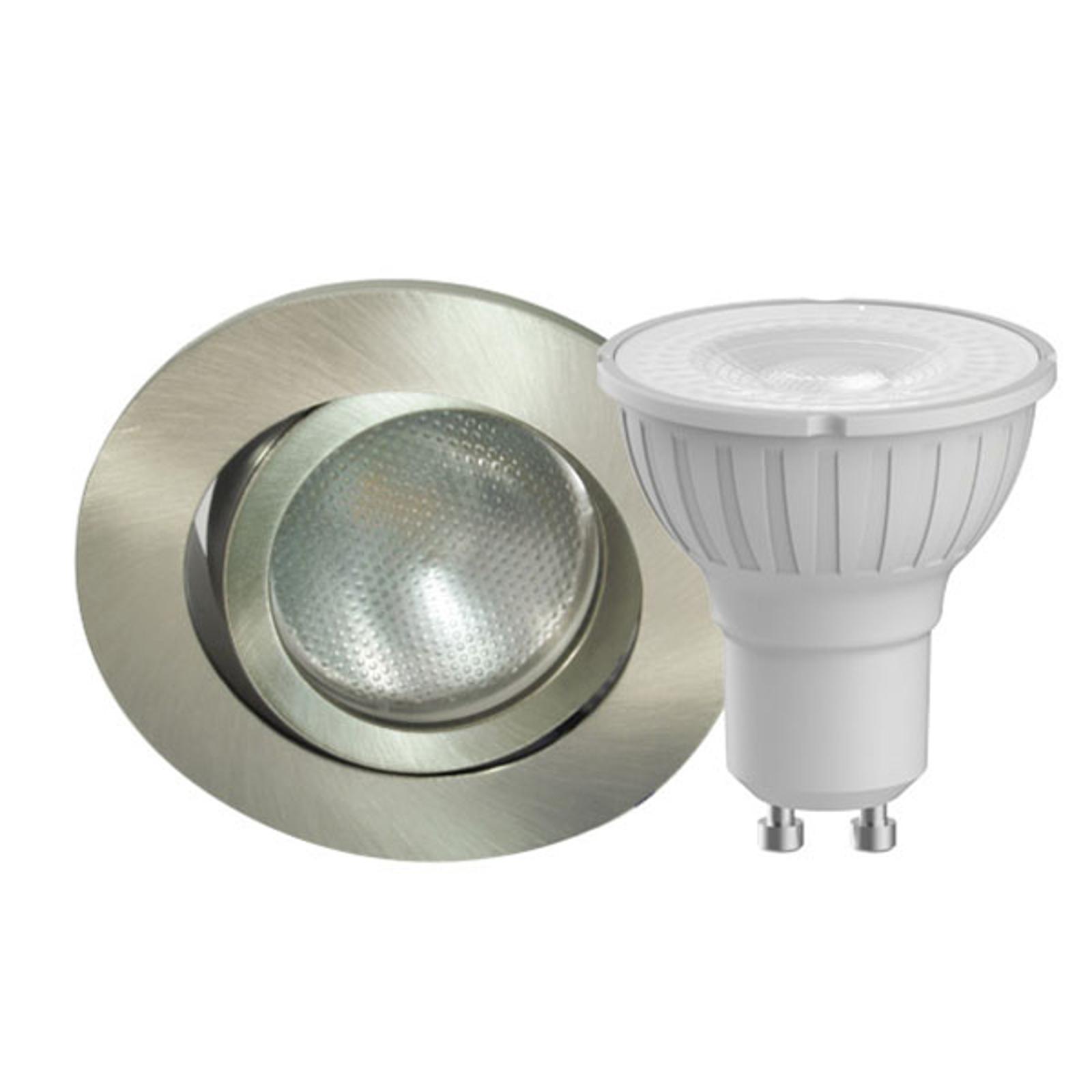 Megaman DecoclicSet LED-mont.ring, GU10, 4,2W jern