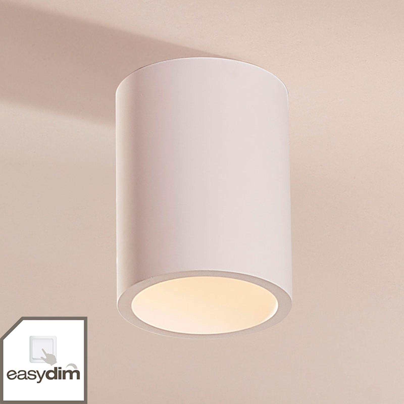 Rund Easydim-LED-taklampa Natalie av gips