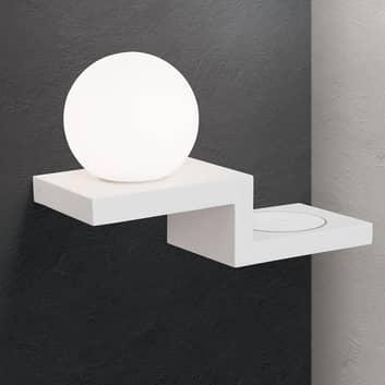 LED-seinälamppu Snowball latauspinnalla