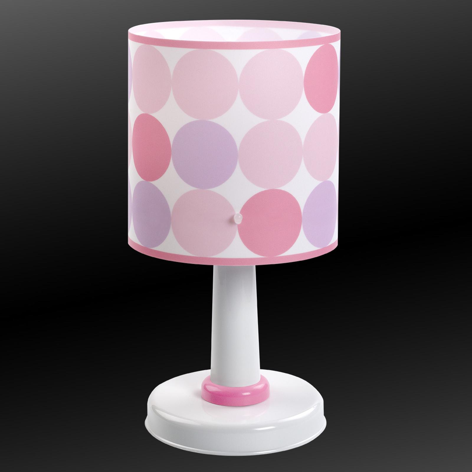 Colors - gestipte tafellamp in roze
