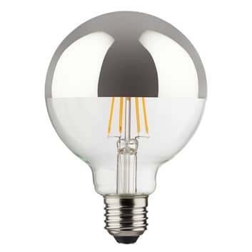 E27 8W 827 LED-Kopfspiegellampe, globeform