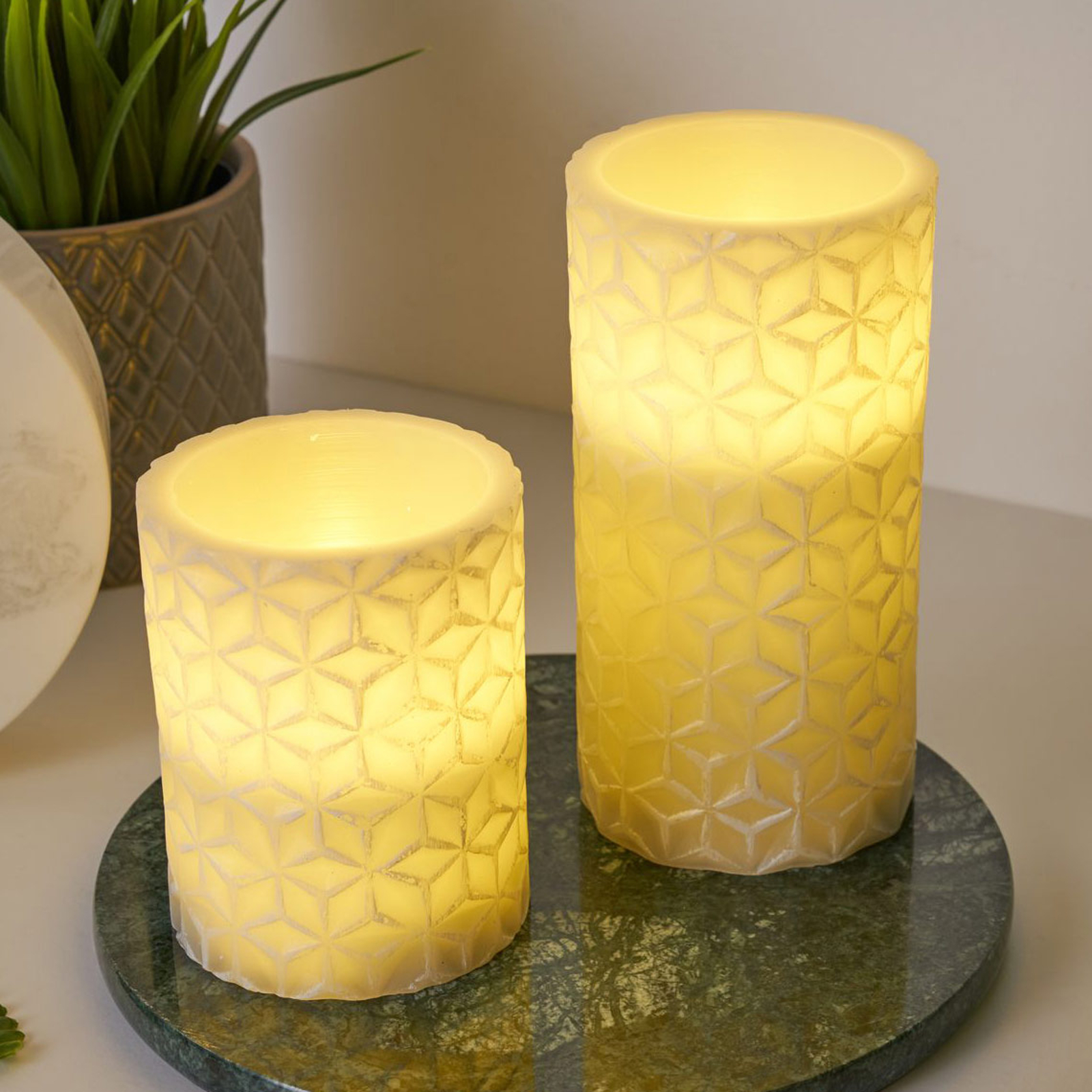 Pauleen Cosy Ornament Candle LED-mignon 2er-sett