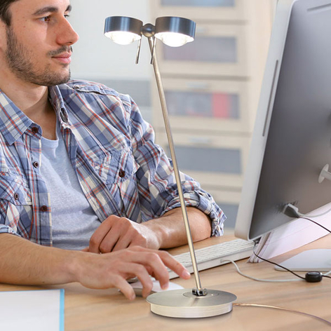 Lámpara de mesa LED Puk Table Twin