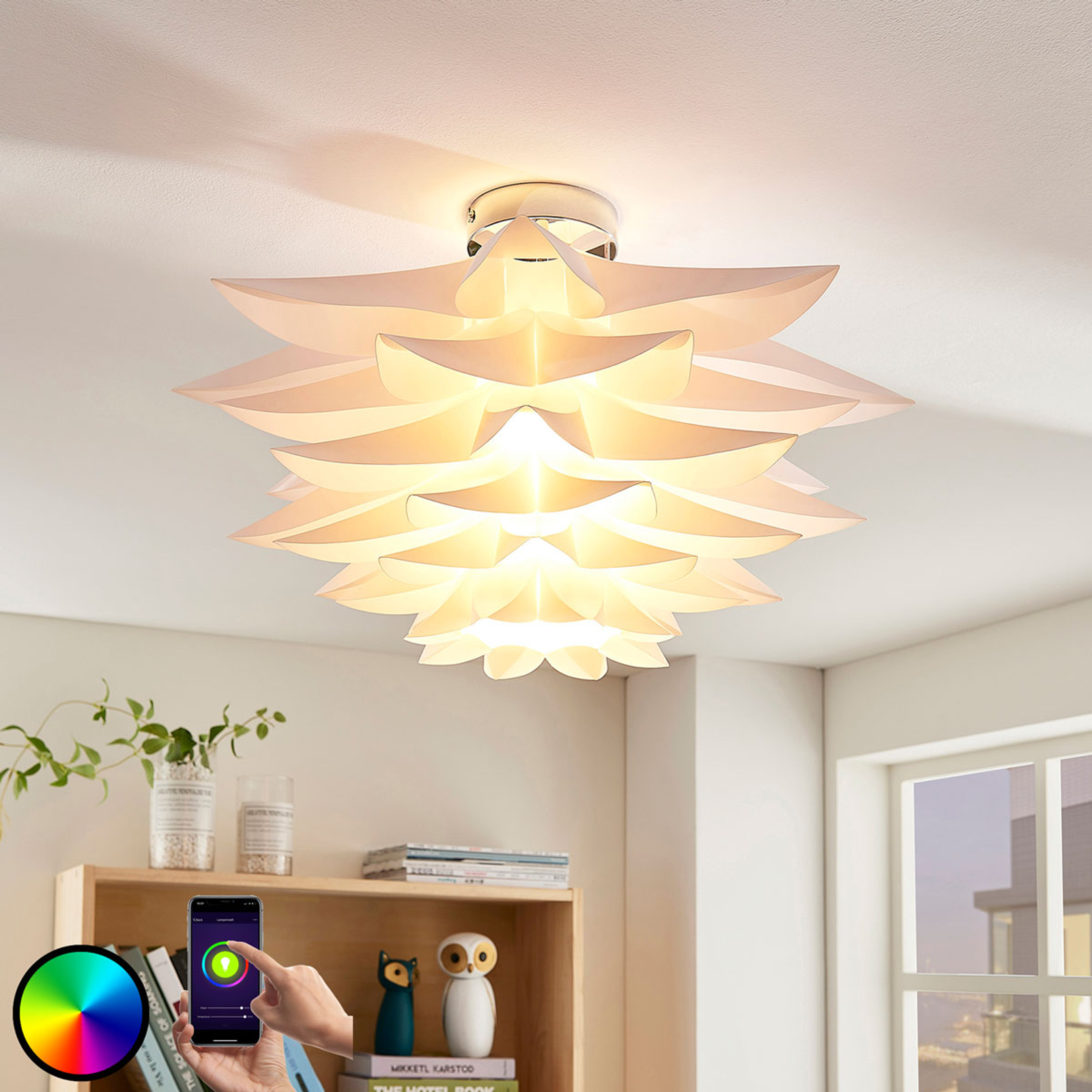 Lindby Smart LED plafondlamp Lavinja, RGB