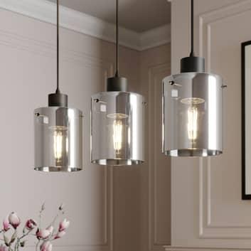 Lindby Kourtney -riippuvalo, lasivarjostin 3-lamp.