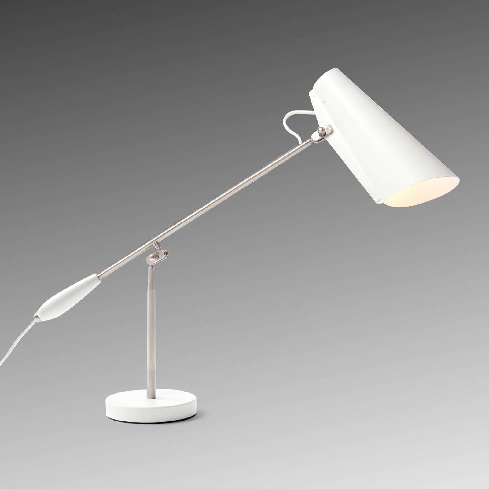 Lampe à poser rétro blanche Birdy