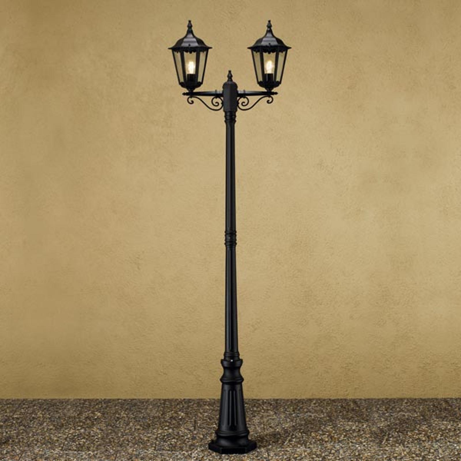 Lyktestolpe Firenze, 2-lyskilder, svart