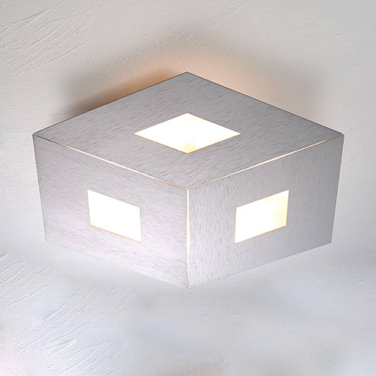 Bopp box Comfort LED plafondlamp zilver 45cm