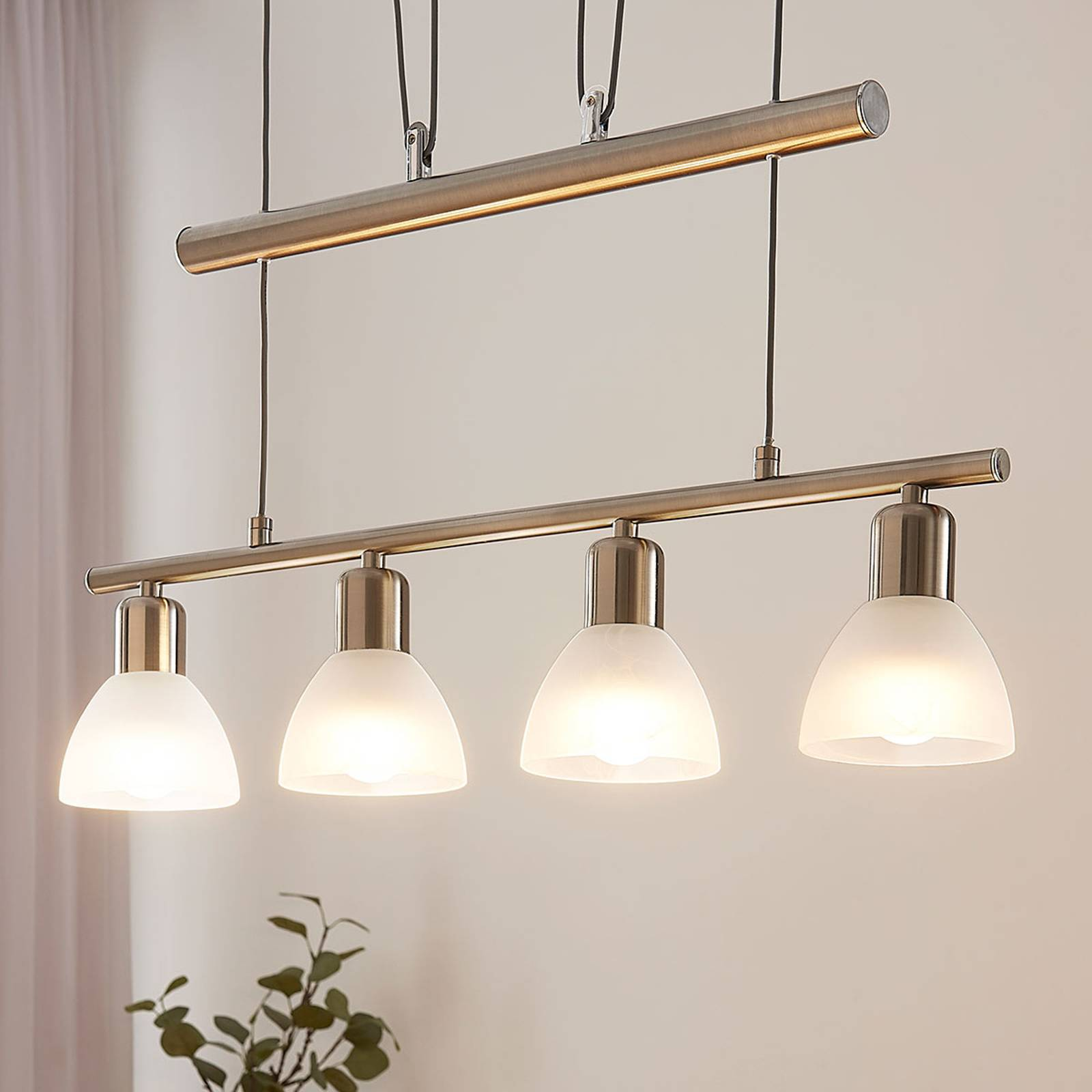 Lampa wisząca LED w formie belki Gwendolin