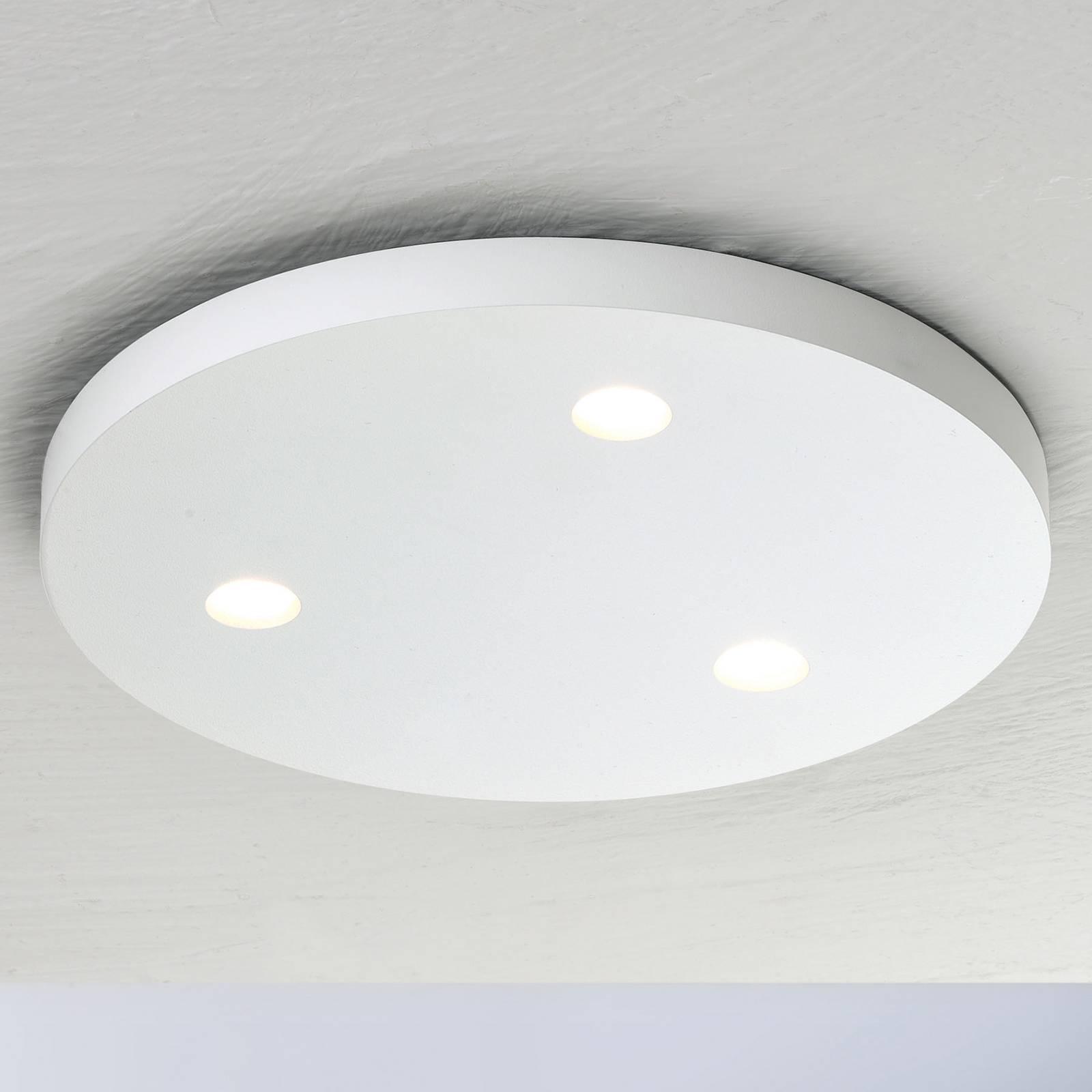 Bopp Close LED plafondlamp 3-lamps rond wit