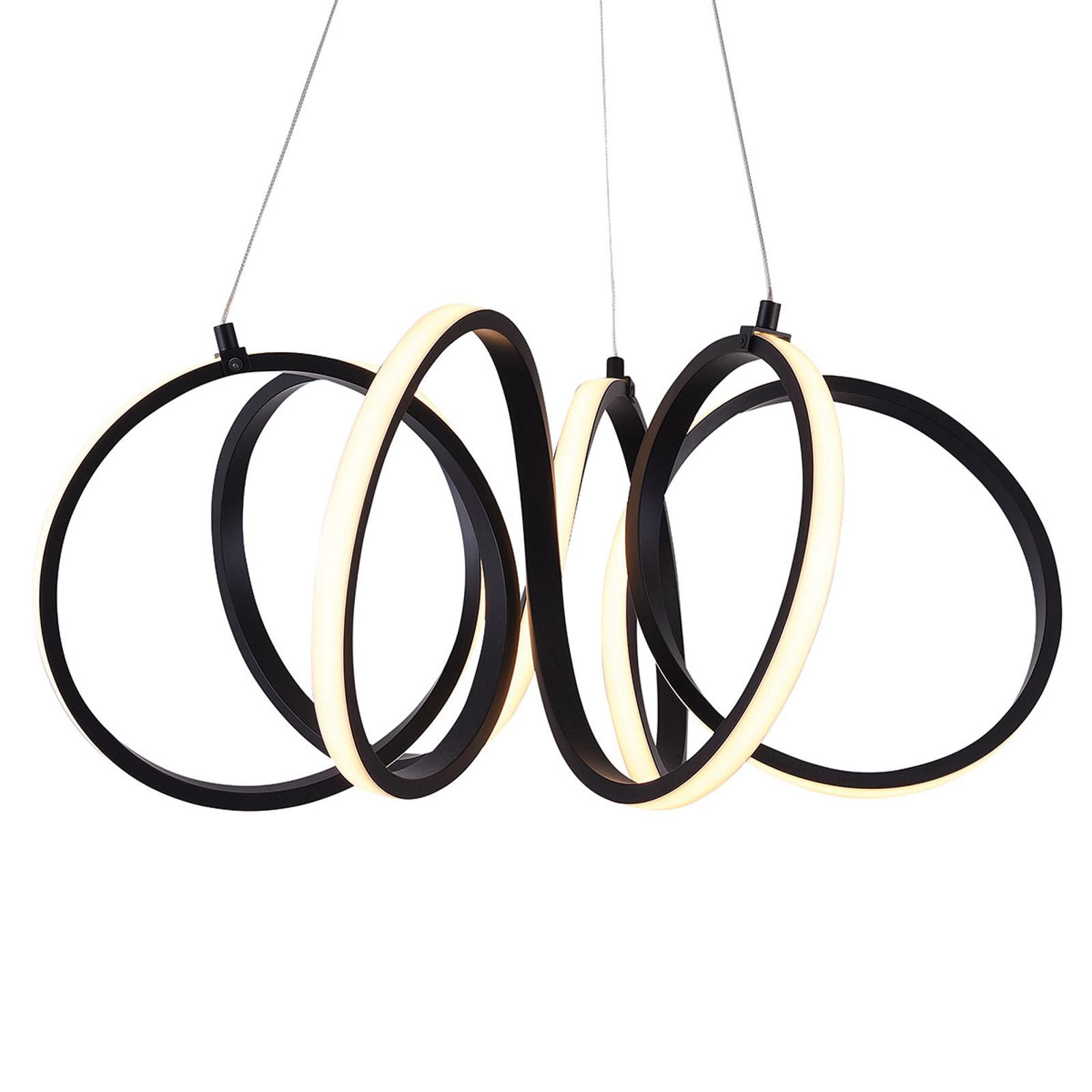 Suspension LED Raffinato, noir