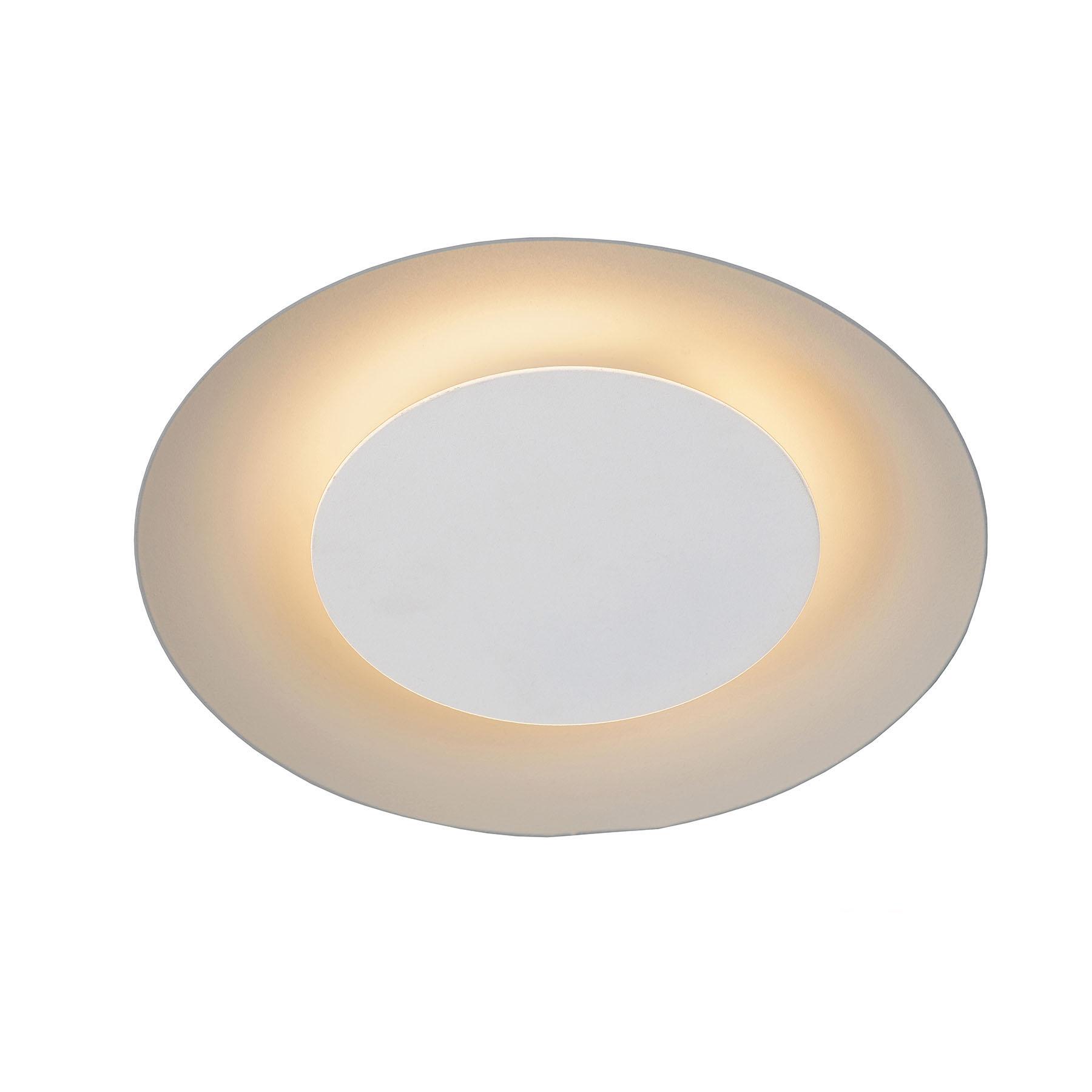 Lampa sufitowa LED Foskal biała, Ø 21,5 cm