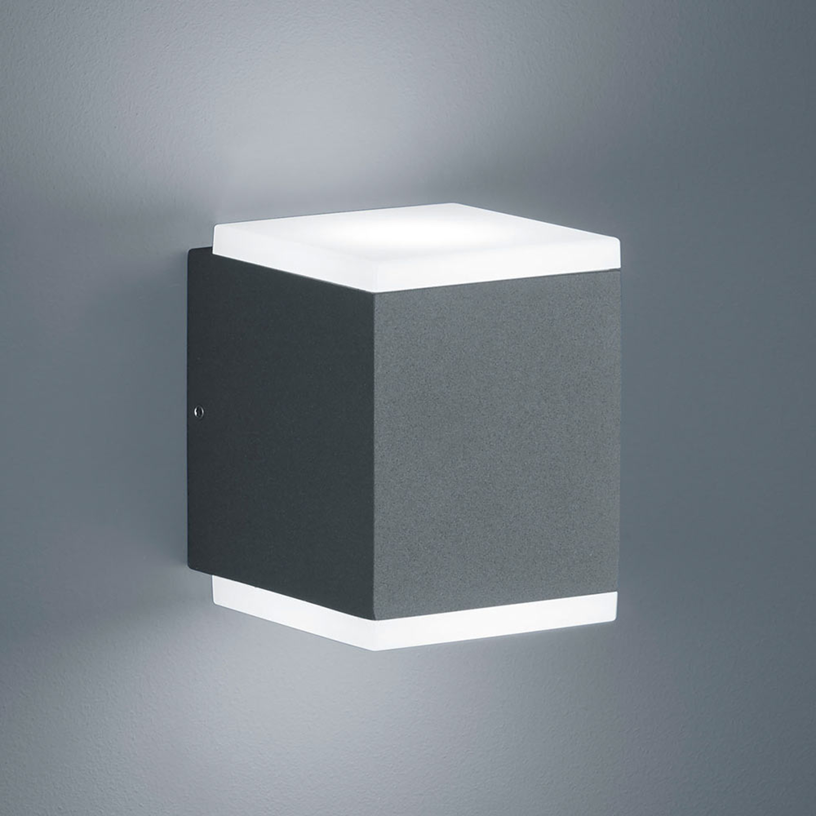 Helestra Kibo - LED buitenwandlamp, grafiet