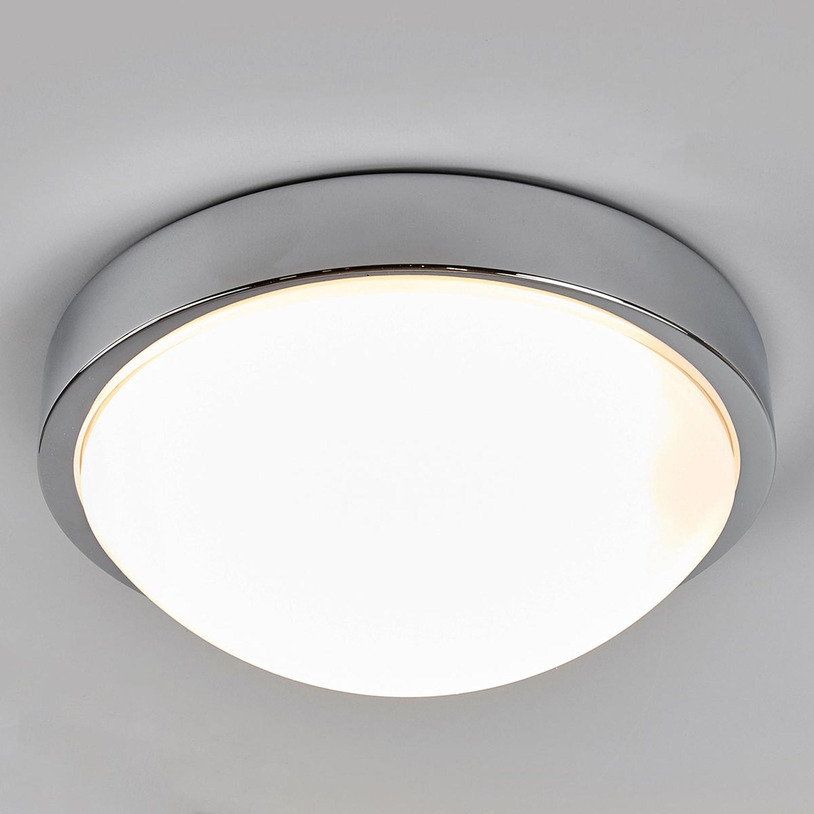 Chromowana łazienkowa lampa sufitowa Elucio, IP44