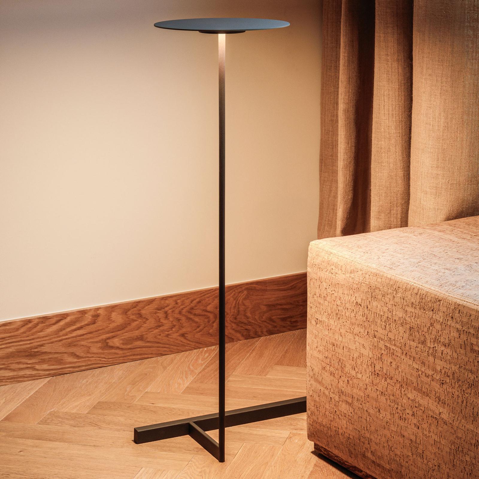 Vibia Flat -LED-lattiavalo 96 cm harmaa L1