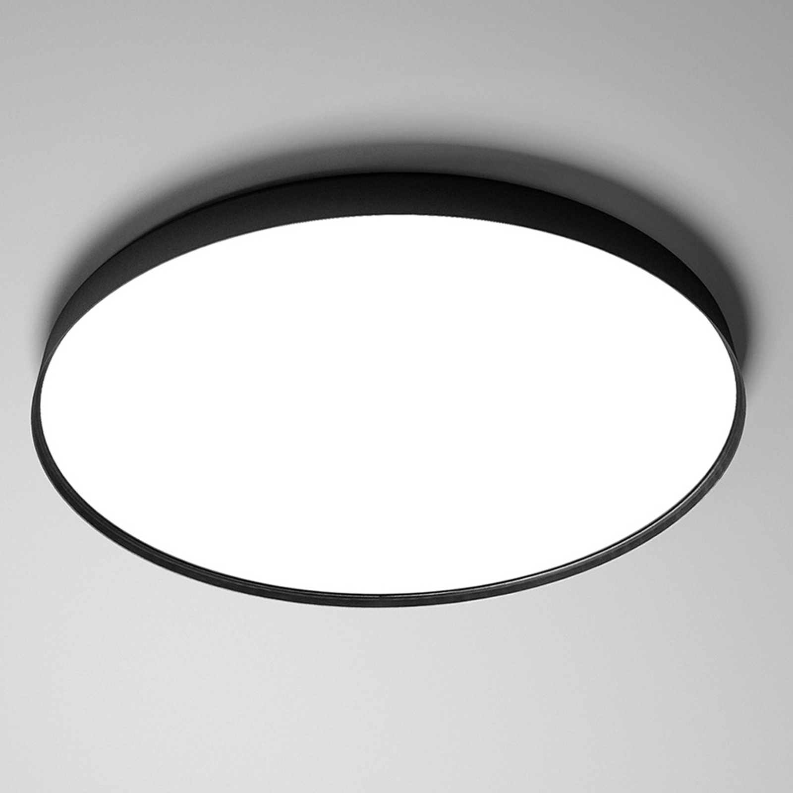 Luceplan Compendium Plate LED-Deckenlampe, schwarz