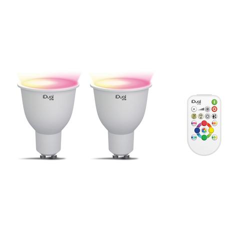 iDual One GU10 5W RGBW set 2x, telecomando