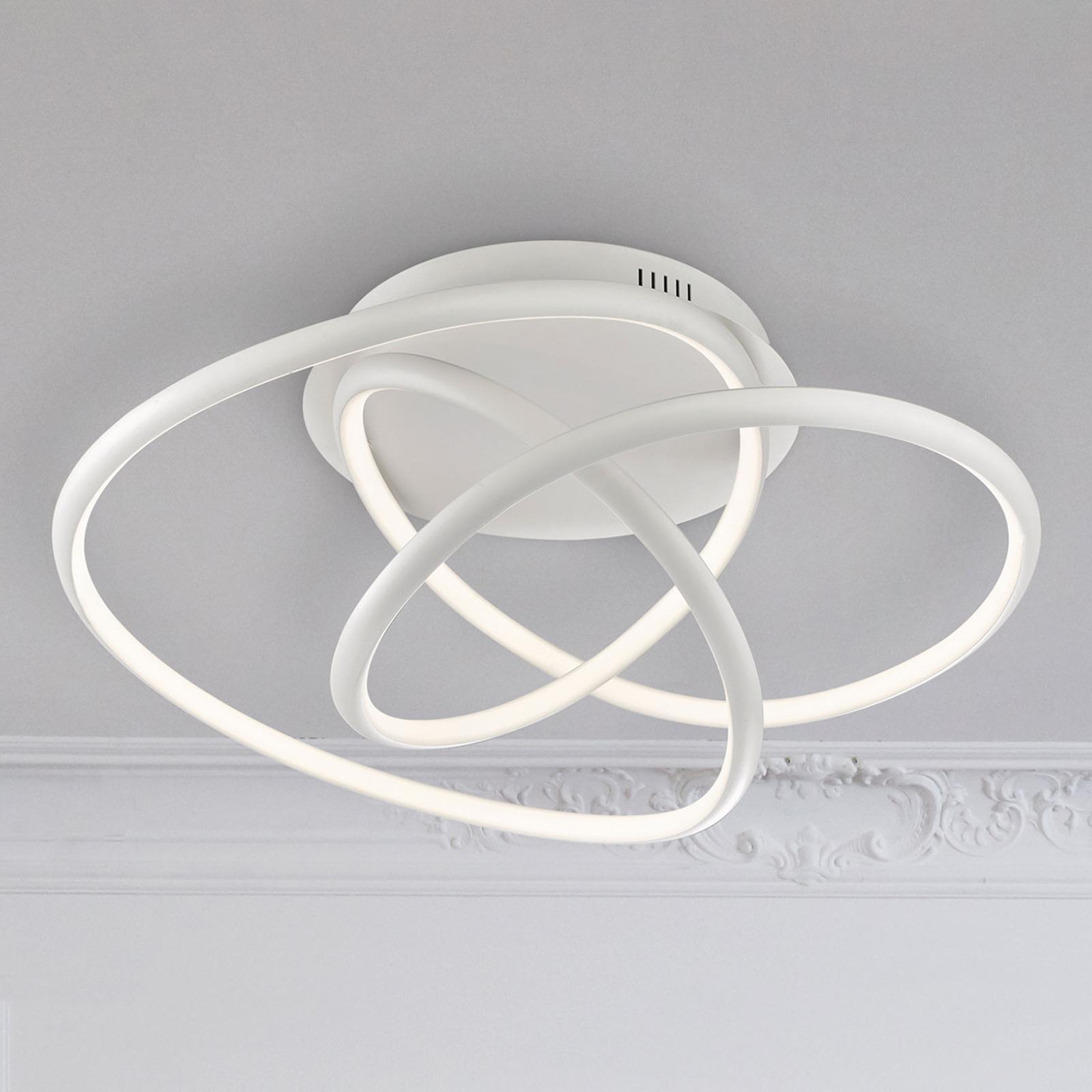 Biała lampa sufitowa LED Galaxy, ściemniana