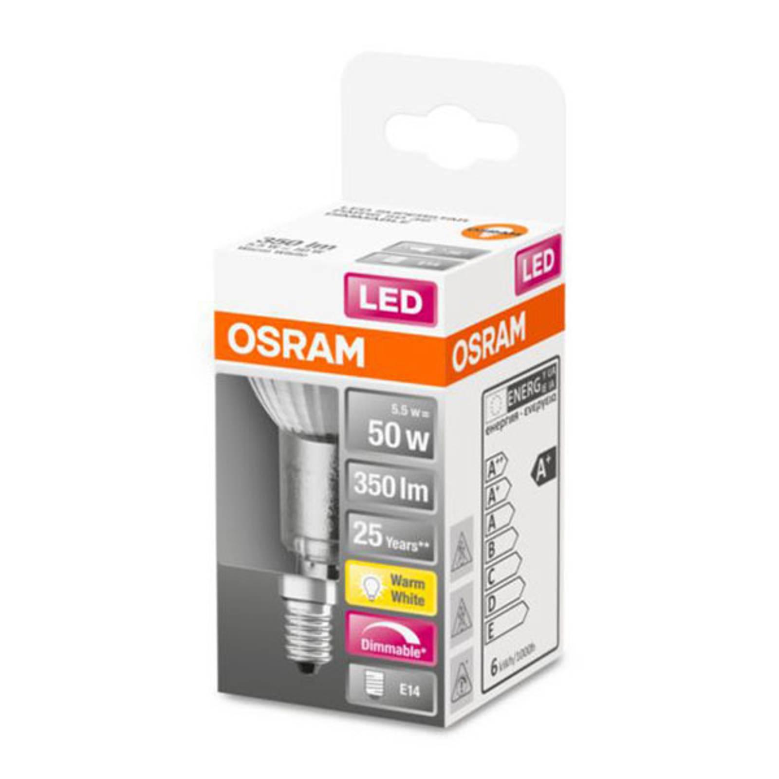 OSRAM LED bulb E14 4,8W PAR16 2,700 K dimmable