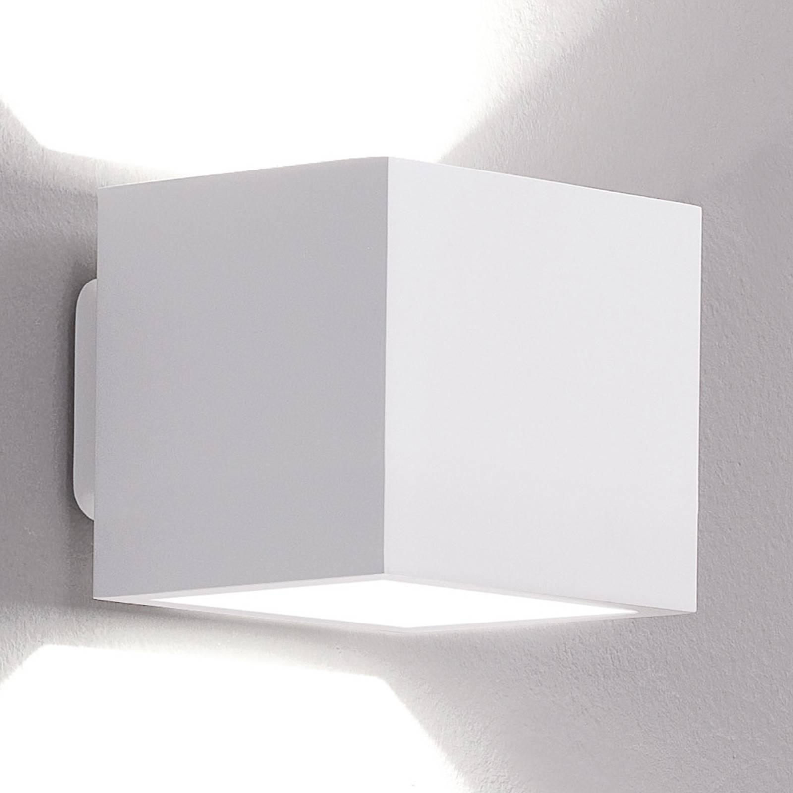 ICONE Cubò LED-Wandleuchte, 10 W, weiß