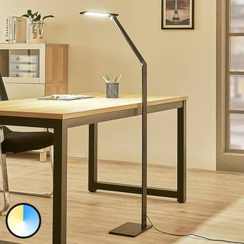 Dimbar LED golvlampa Salome, variabel ljusfärg