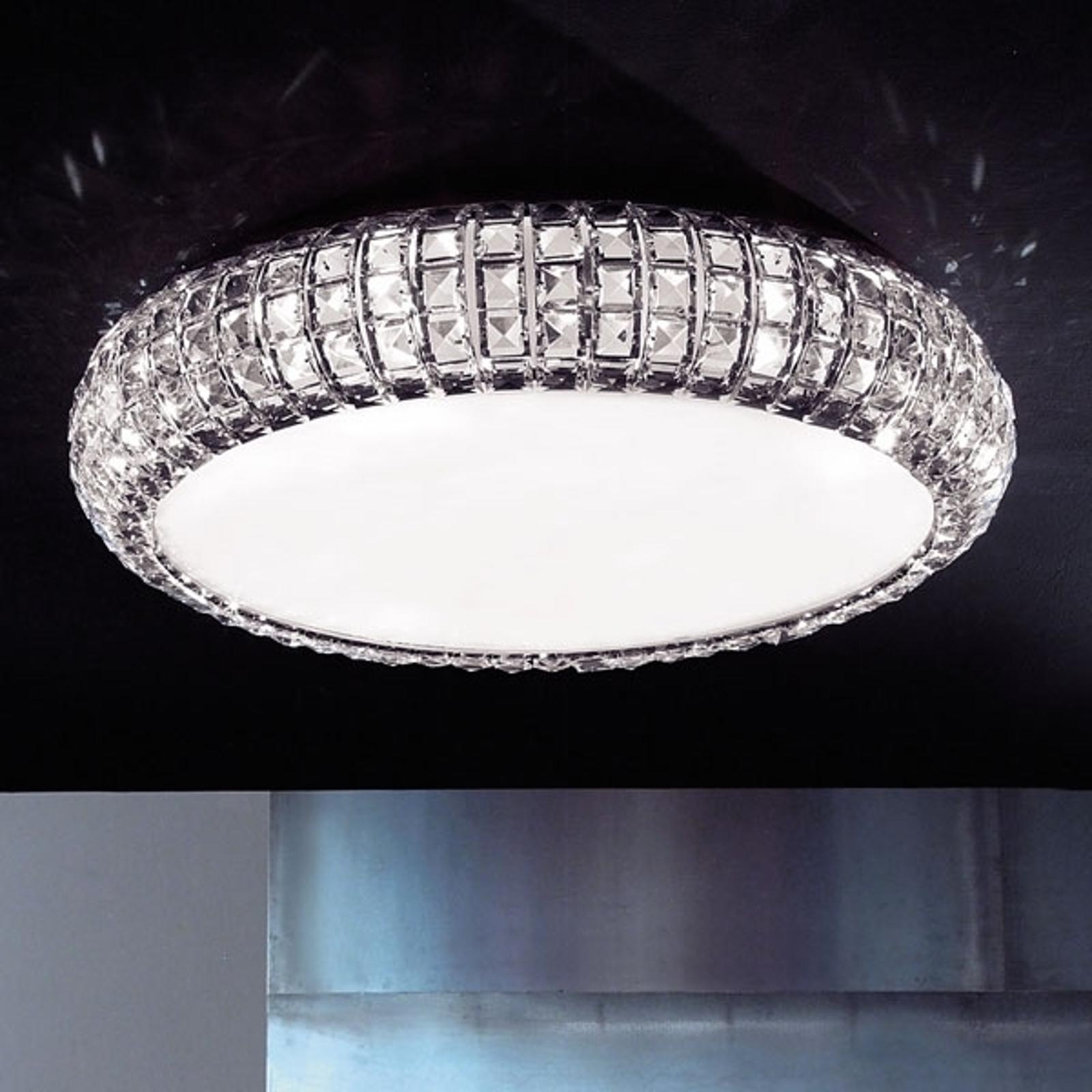 Krystall-taklampe ANDROMEDA