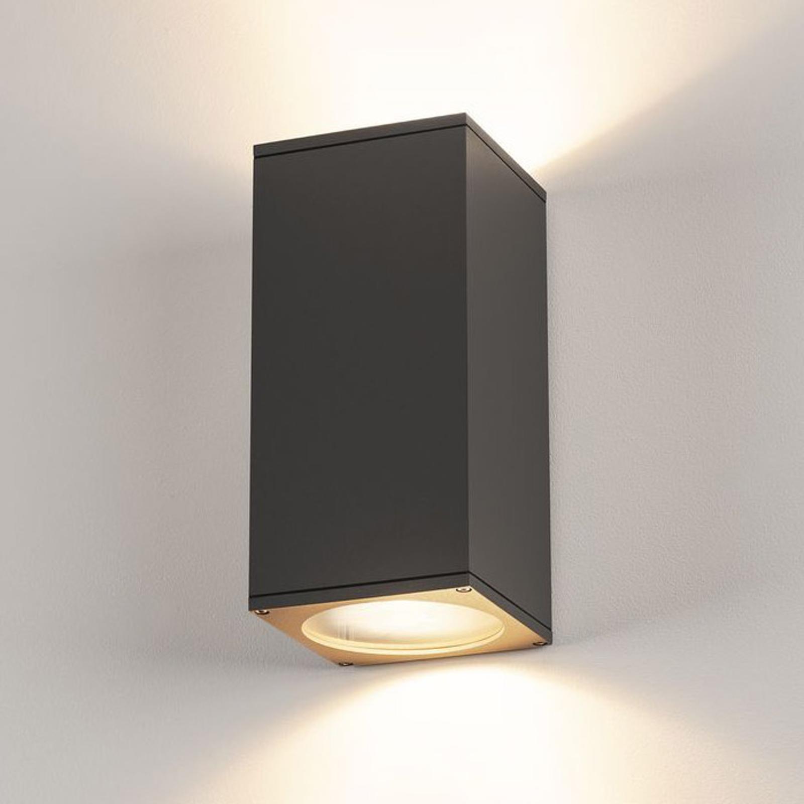 SLV Big Theo Außenwandlampe, 2fl, anthrazit