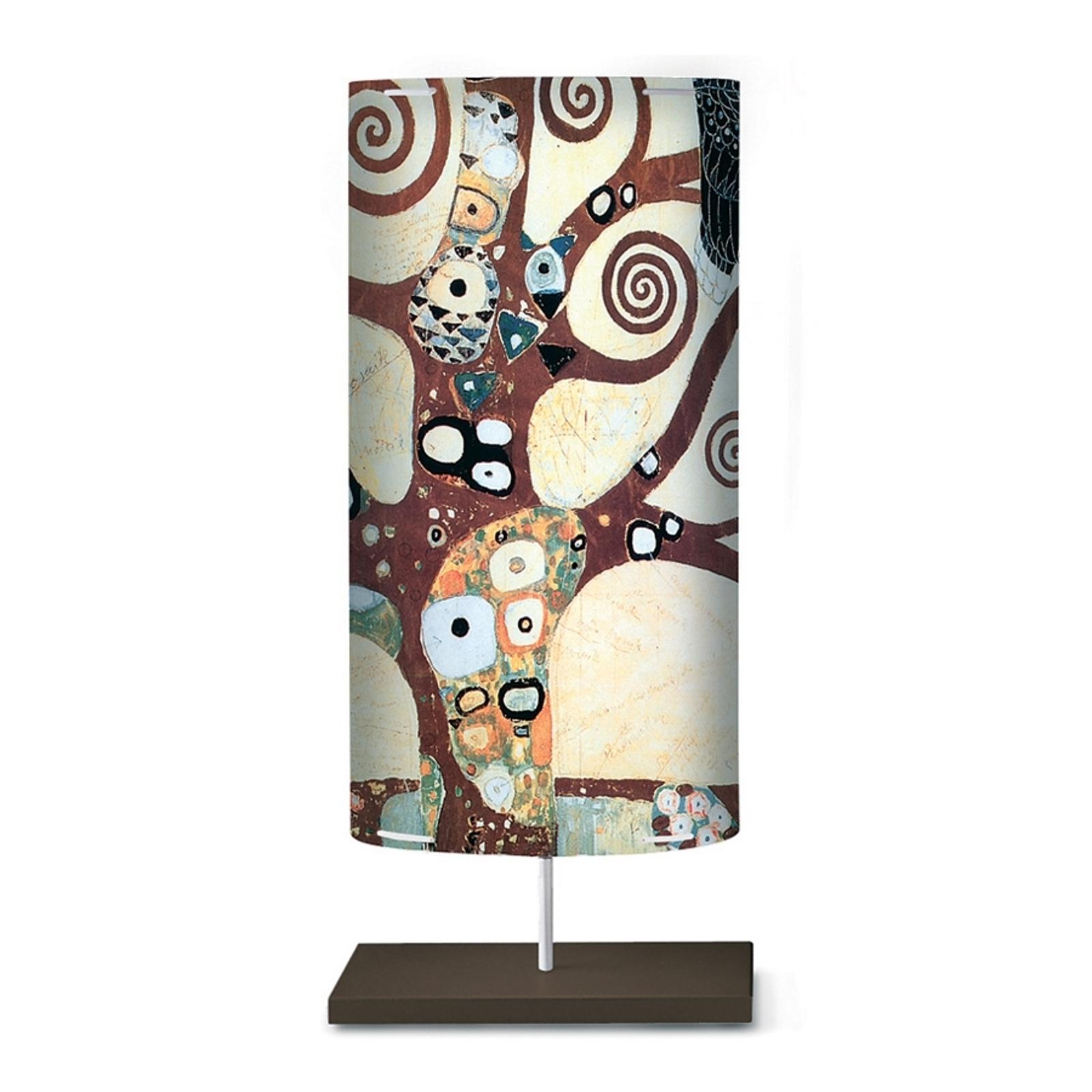 Lámpara de pie Klimt I con patrón artístico