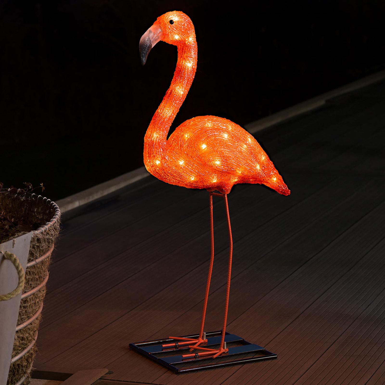 LED-Dekorationsleuchte Flamingo 65 cm