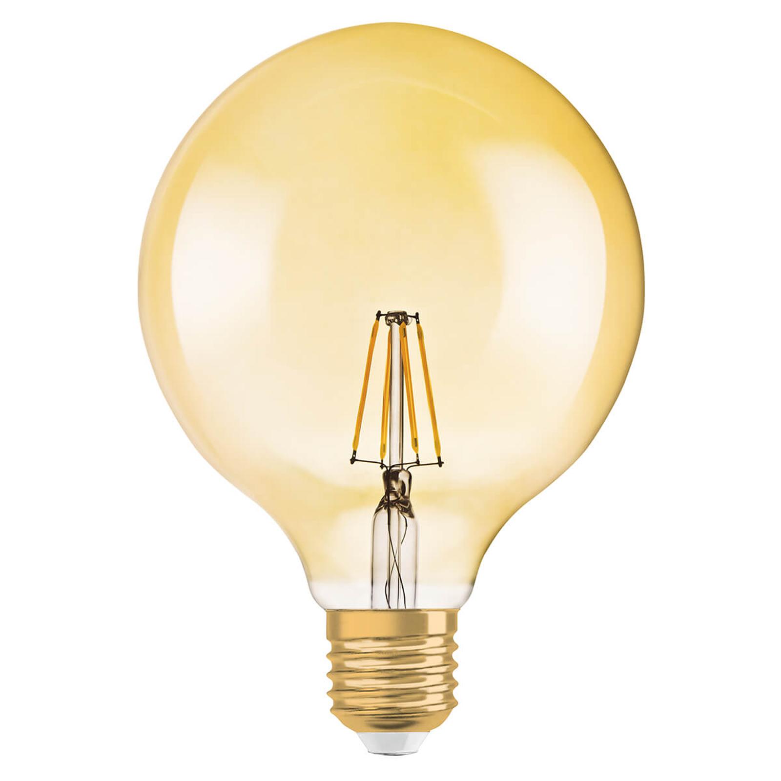 LED-Globelampe Gold E27 2,5W, warmweiß, 225 Lumen