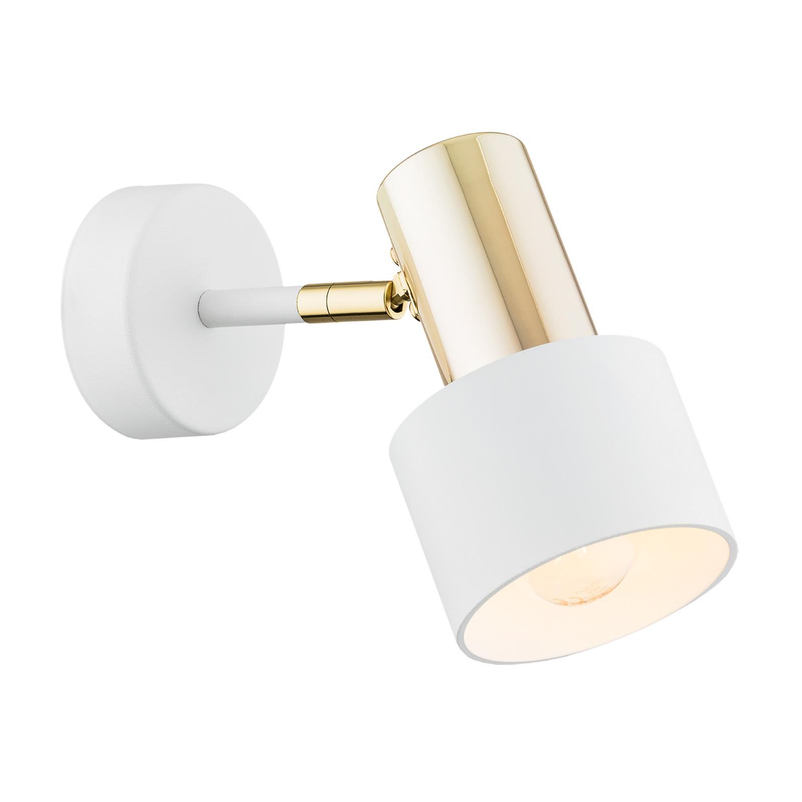 Destin vægspot, 1 lyskilde, hvid/messing