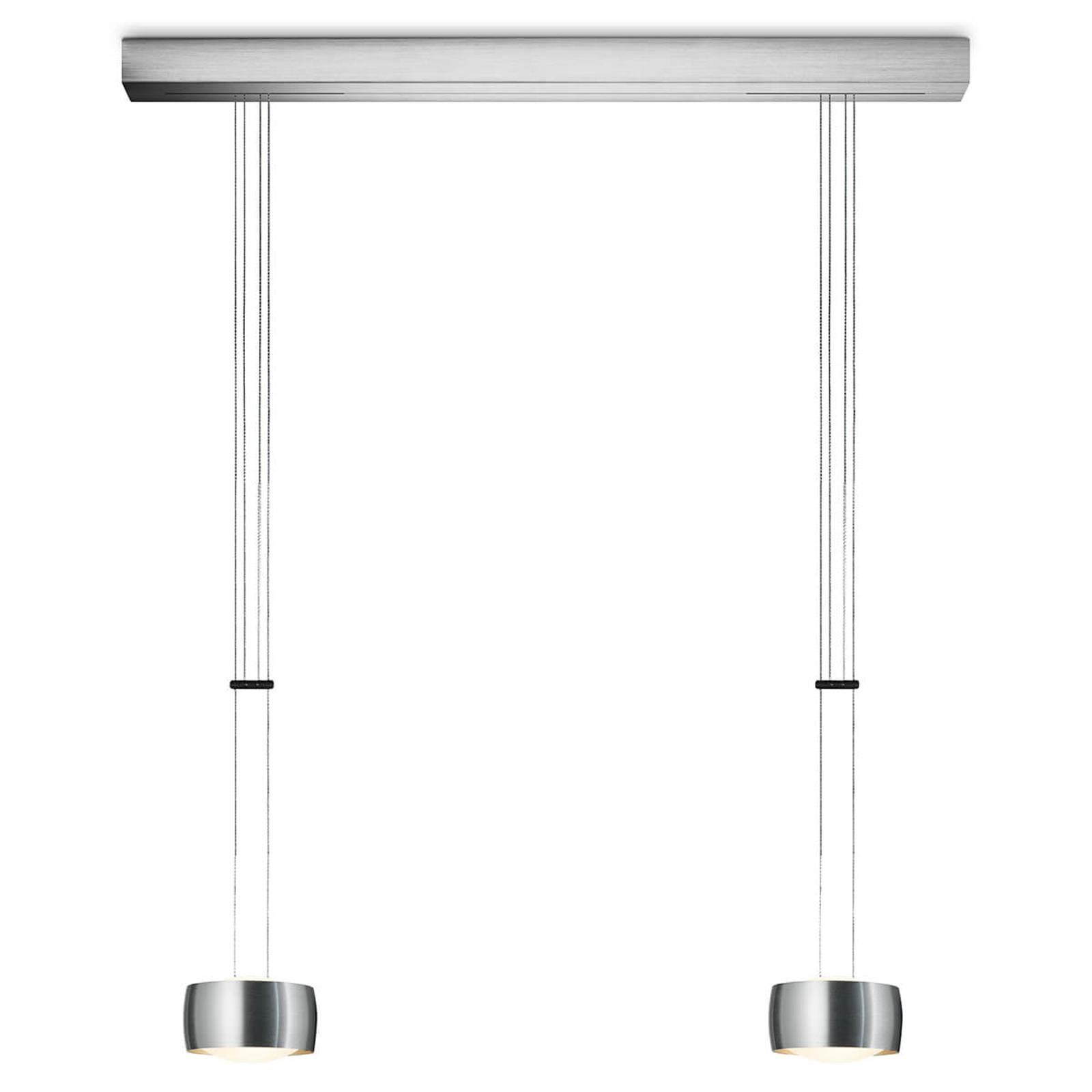 OLIGO Grace LED-Hängeleuchte 2flg. aluminium