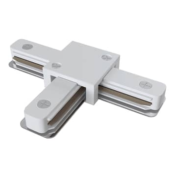 Conector en T Track, riel monofásico, blanco