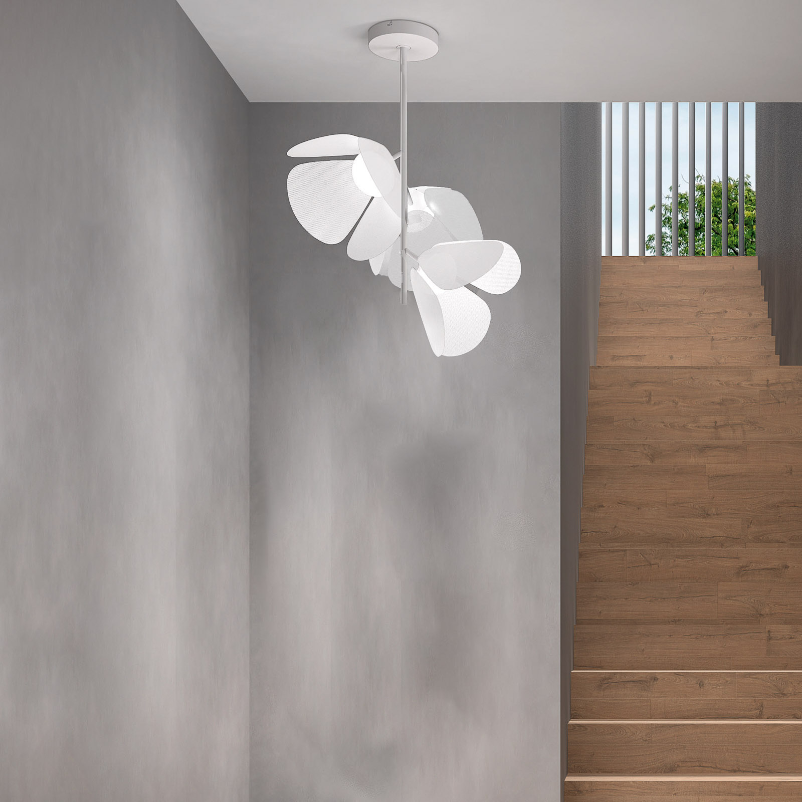 Bover Mod PF/73/3L plafonnier LED, blanc